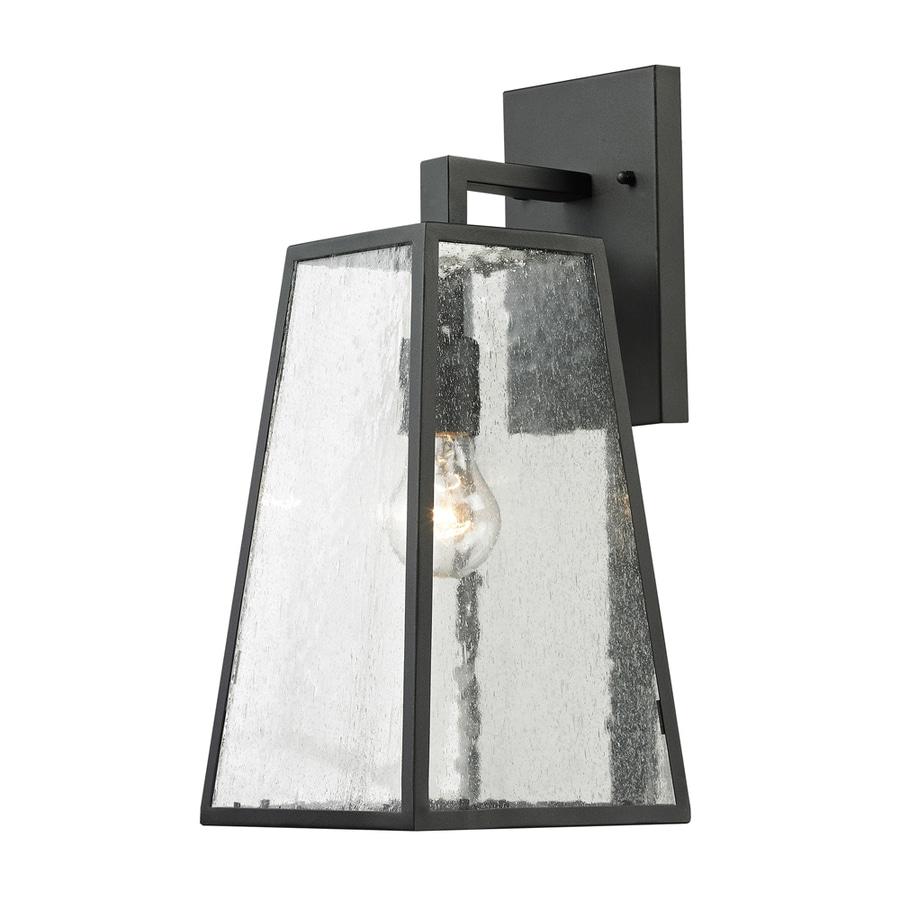 Westmore Lighting Fleetwood 18-in H Textured Matte Black Outdoor Wall Light