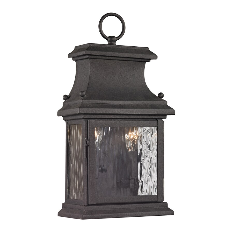 Westmore Lighting Barnstable Forge 14-in H Charcoal Outdoor Wall Light