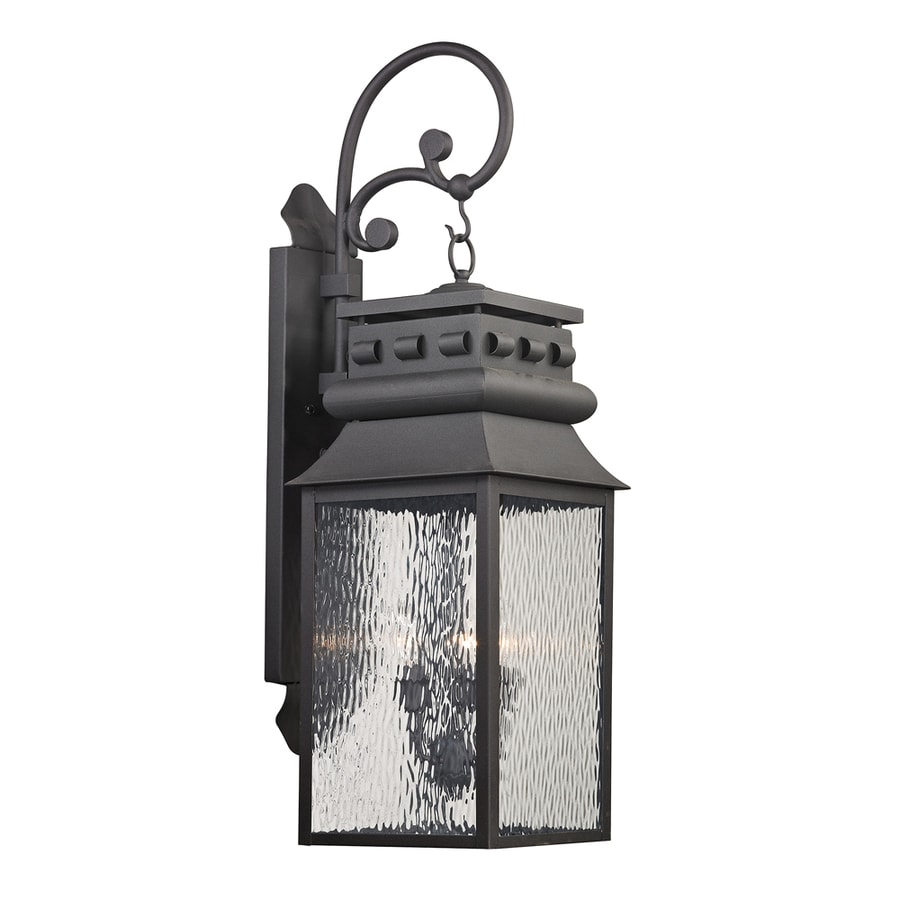 Westmore Lighting Eckhart's Forge 35-in H Charcoal Outdoor Wall Light