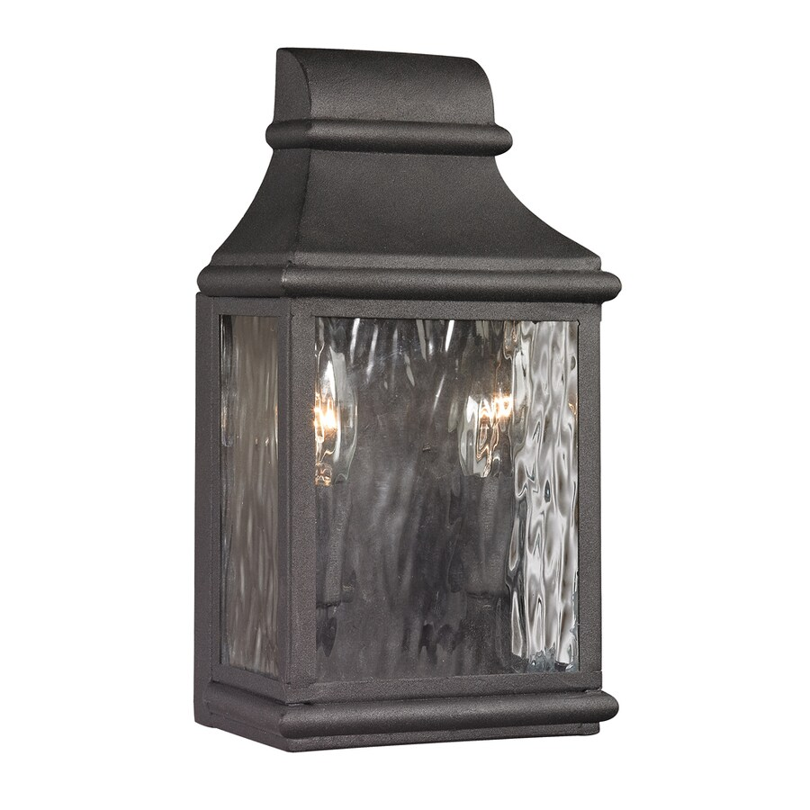 Westmore Lighting Foxborough 11-in H Charcoal Outdoor Wall Light