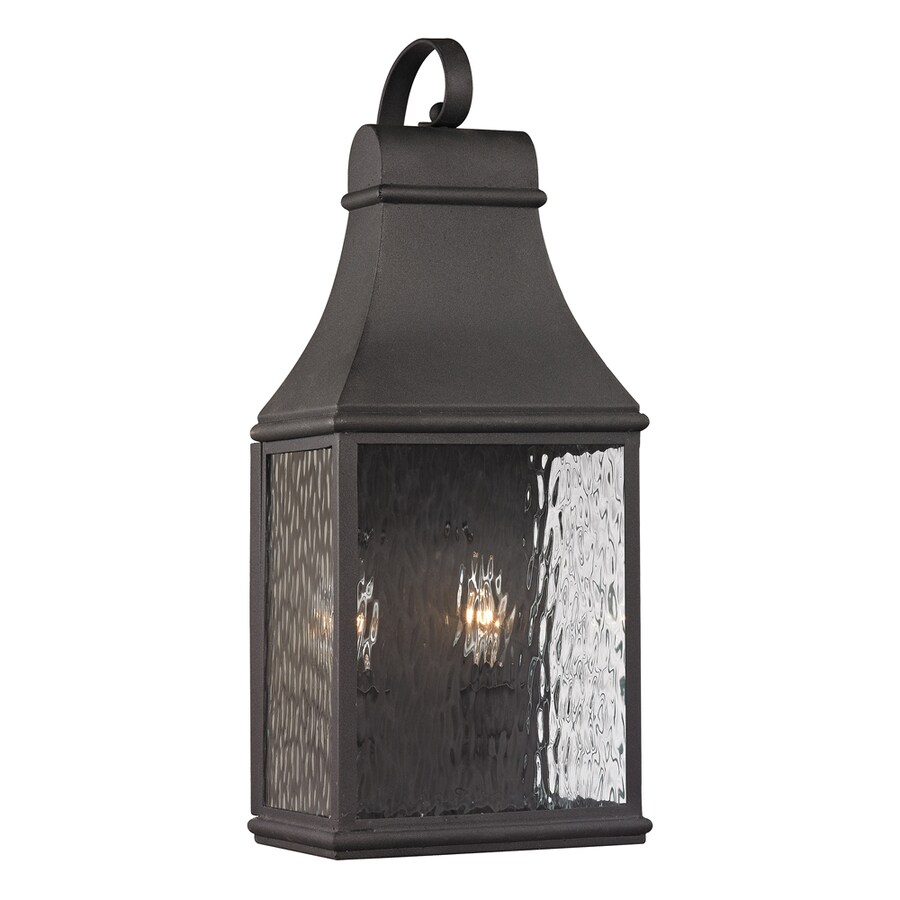 Shop Westmore Lighting Foxborough 19 In H Charcoal Outdoor Wall Light At Lowe