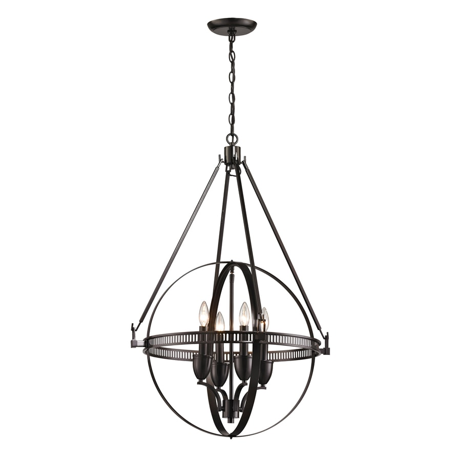 Westmore Lighting Atlas 24-in Oil-Rubbed Bronze Single Pendant
