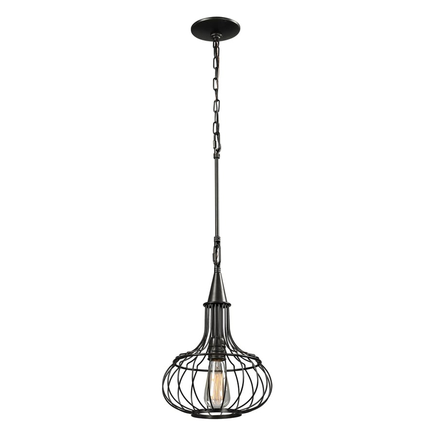 Westmore Lighting Bournemouth 11-in Oil-Rubbed Bronze Single Pendant