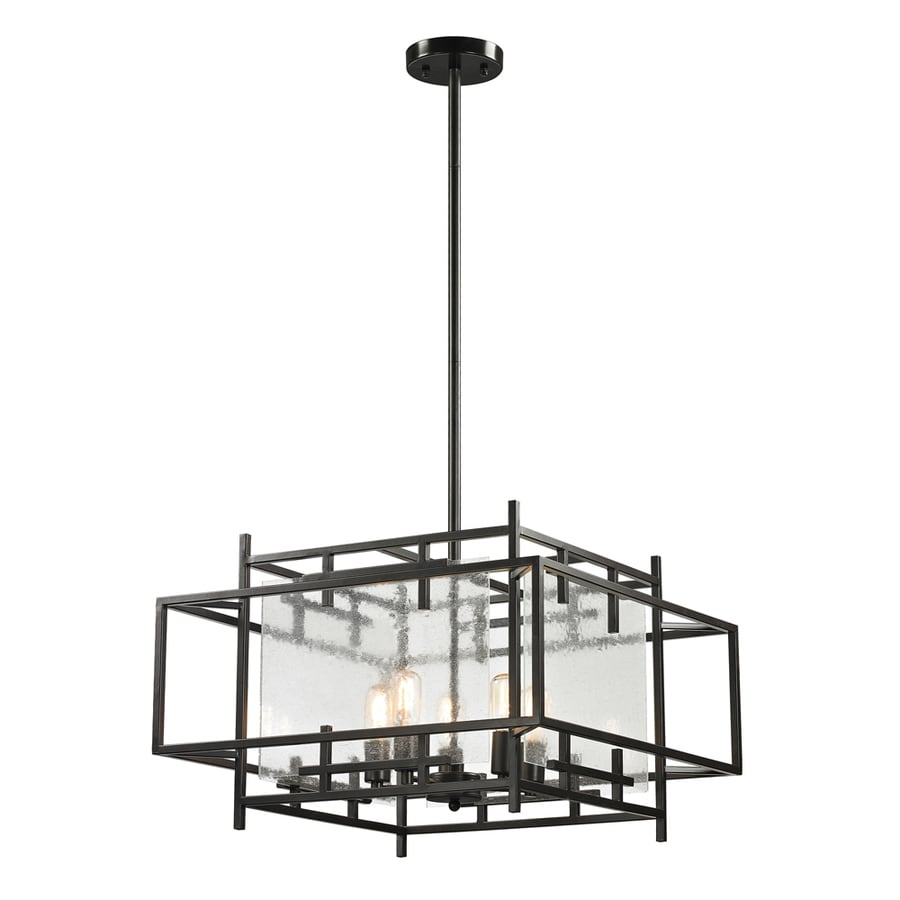 Westmore Lighting Escher 25-in Oil-Rubbed Bronze Single Clear Glass Pendant