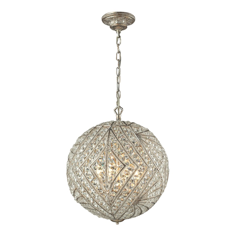 Westmore Lighting Fremont 17-in Sunset Silver Single Crystal Pendant
