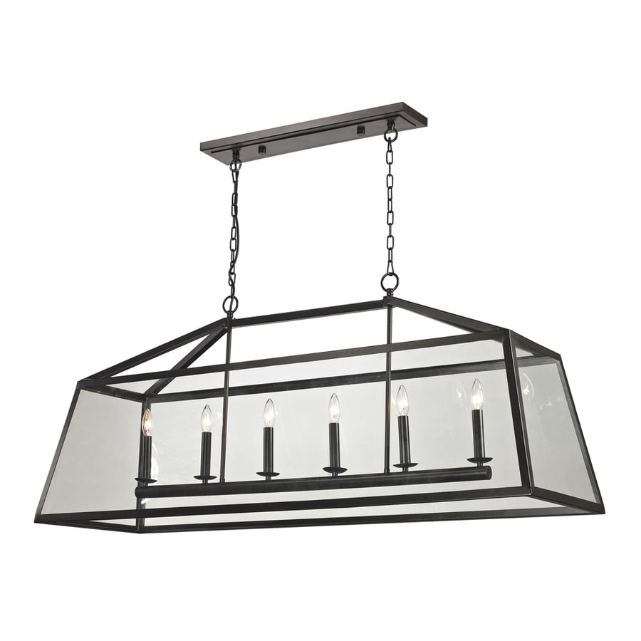 Westmore Lighting Hatfield 54-in Oil-Rubbed Bronze Single Clear Glass Pendant
