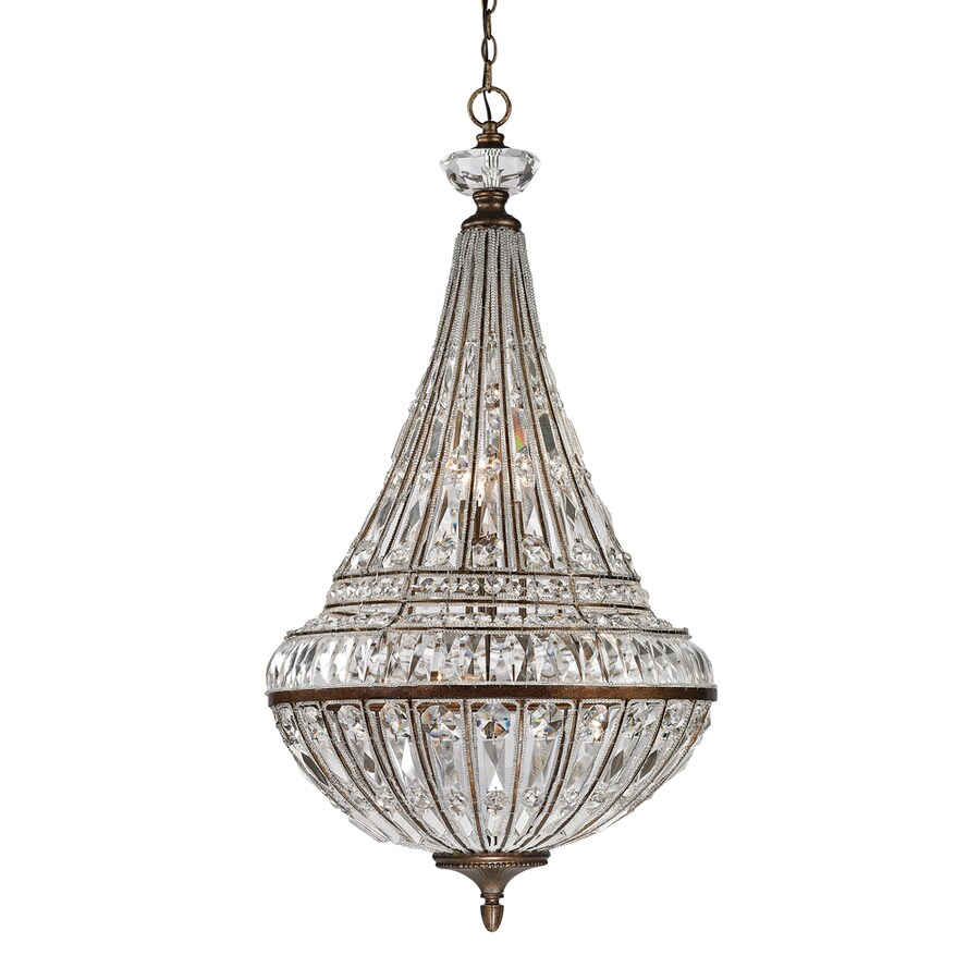 Westmore Lighting Wakefield 23-in Mocha Single Crystal Pendant
