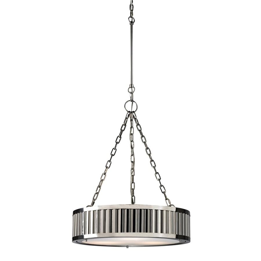 Westmore Lighting Chelsea 20-in Polished Nickel Single Pendant