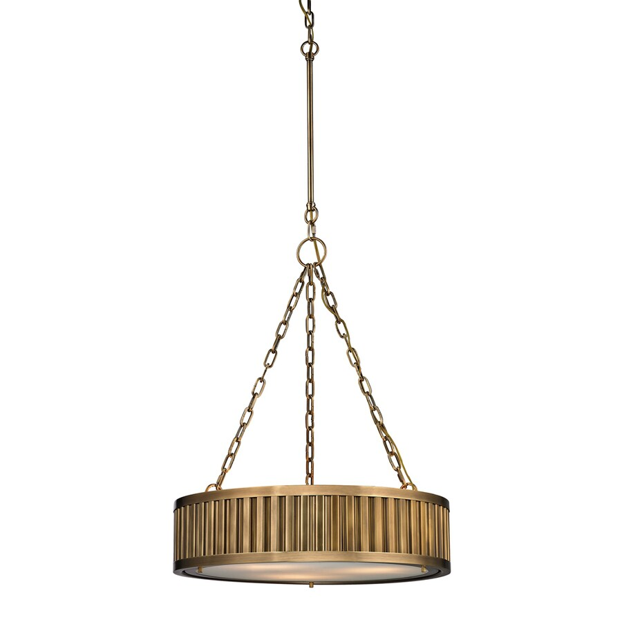 Westmore Lighting Chelsea 20-in Aged Brass Single Pendant