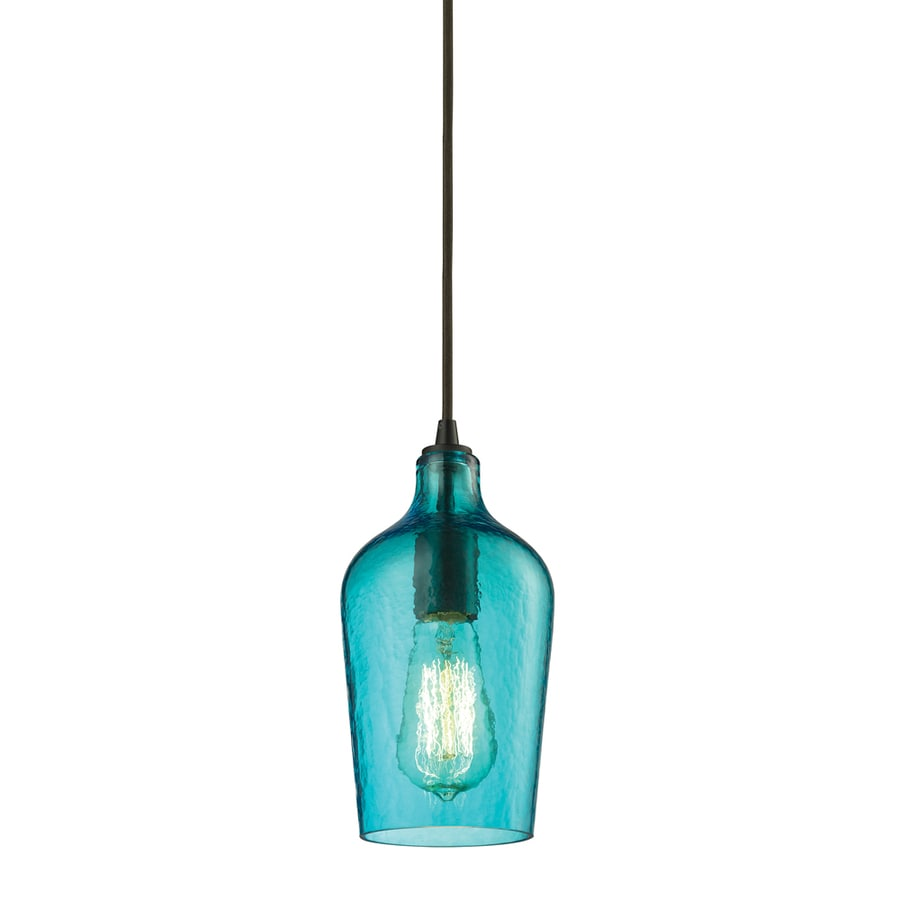 Westmore Lighting Glassmith 5-in Oil-Rubbed Bronze Mini Clear Glass Pendant