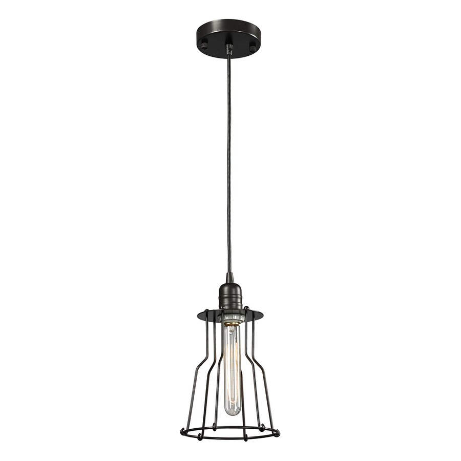 Westmore Lighting Bournemouth 7-in Oil-Rubbed Bronze Mini Pendant
