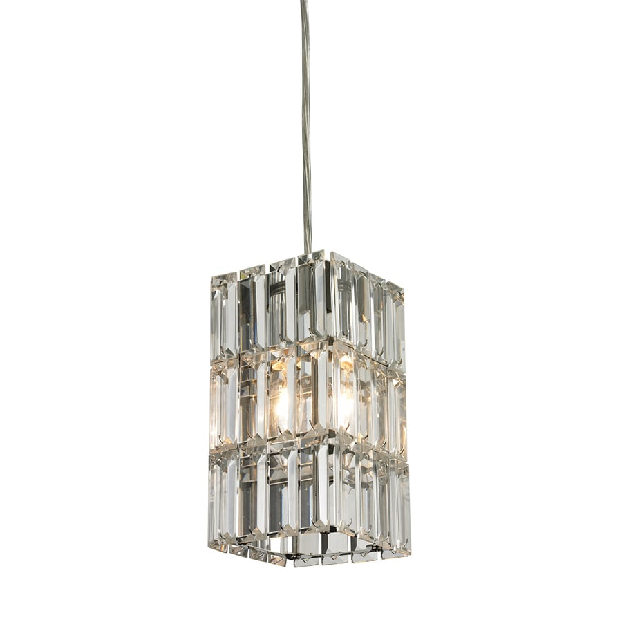 Westmore Lighting Keswick 4-in Polished Chrome Mini Clear Glass Pendant