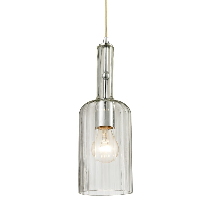 Westmore Lighting Alvingham 5-in Polished Chrome Mini Clear Glass Pendant