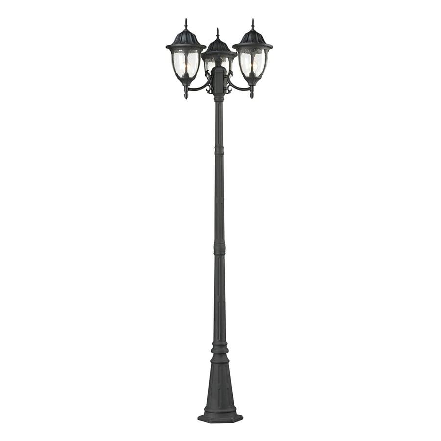 Westmore Lighting Trafalgar 91-in H Textured Matte Black Post Light