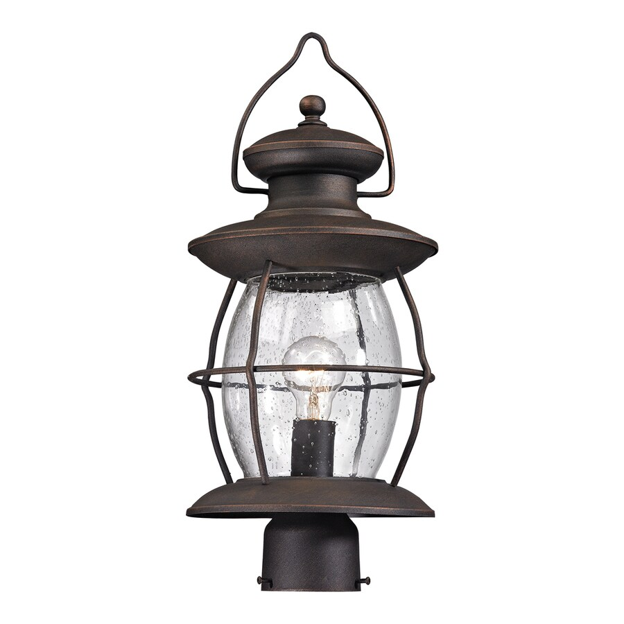 Shop Westmore Lighting Sutter 39 S Mill 21 In H Oil Rubbed Bronze Post Light
