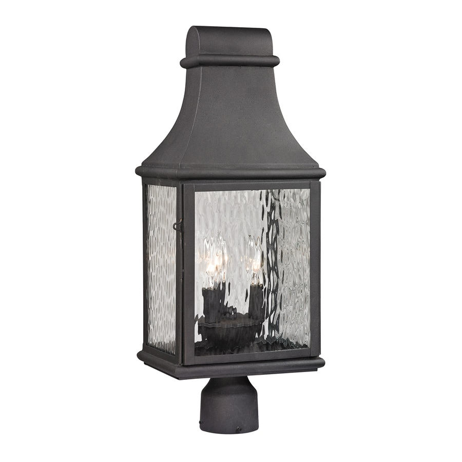 Westmore Lighting Foxborough 23-in H Charcoal Post Light