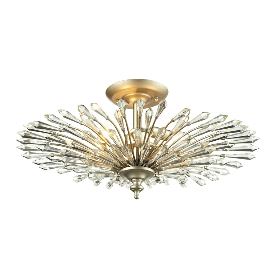 Westmore Lighting Avia 23-in W Aged Silver Ceiling Flush Mount Light