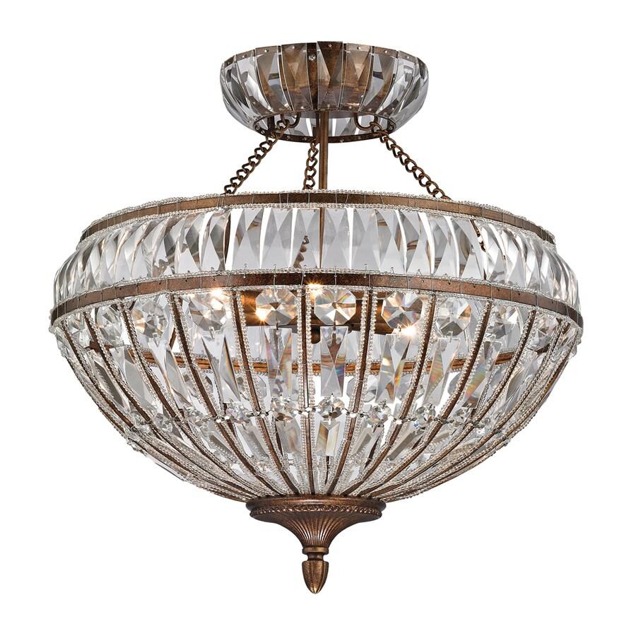 Westmore Lighting Wakefield 22-in W Mocha Ceiling Flush Mount Light