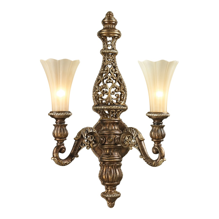 Westmore Lighting Catalina 6-in W 3-Light Burnt Bronze Arm Hardwired Wall Sconce