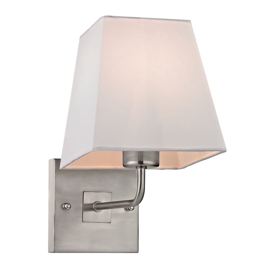 Westmore Lighting Aspen 6-in W 1-Light Brushed Nickel Arm Hardwired Wall Sconce