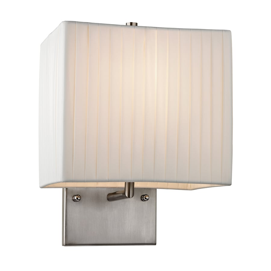 Westmore Lighting Aspen 8-in W 1-Light Brushed Nickel Arm Hardwired Wall Sconce