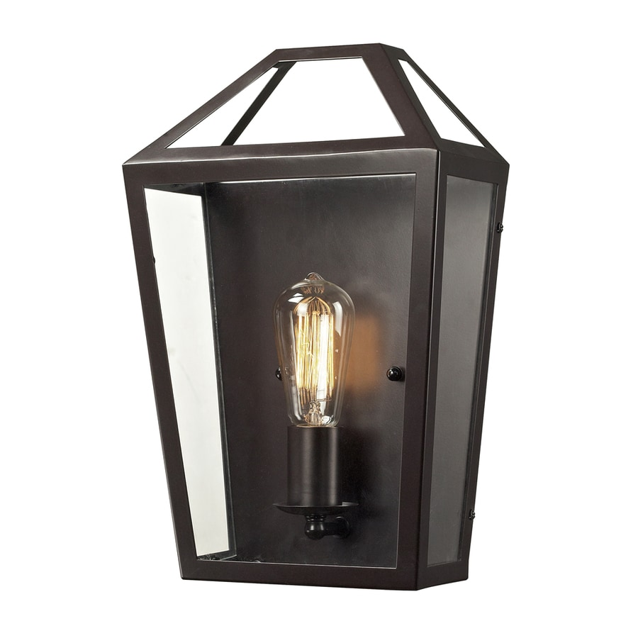 Westmore Lighting Hatfield 10-in W 1-Light Oil Rubbed Bronze Candle Hardwired Wall Sconce