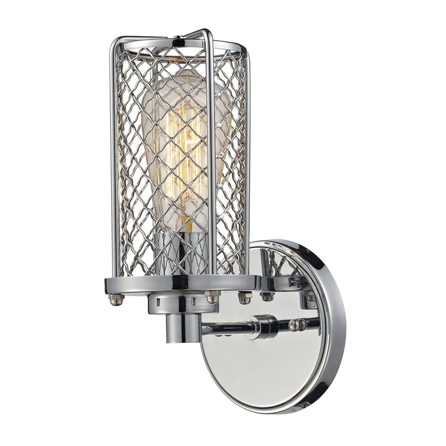 Westmore Lighting Wardenclyffe 5-in W 1-Light Polished Chrome Arm Hardwired Wall Sconce