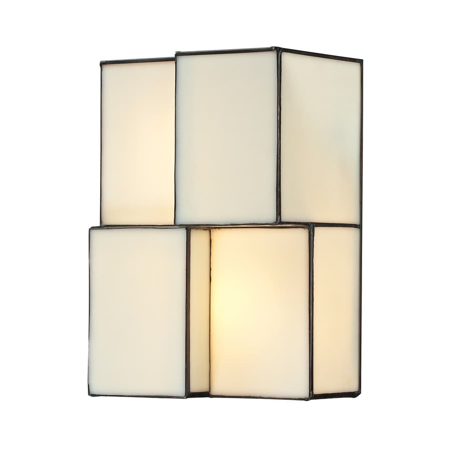 Westmore Lighting Tectonicus 7-in W 2-Light Brushed Nickel Candle Hardwired Wall Sconce