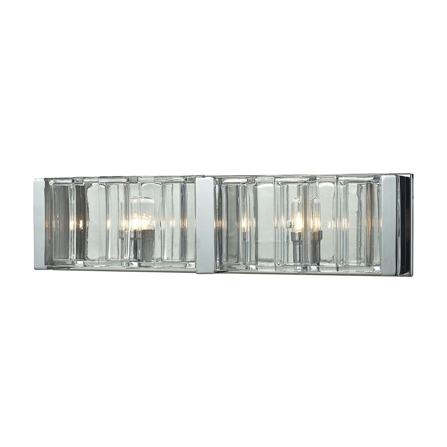 Westmore Lighting 2-Light Niagara Clear Crystal Bathroom Vanity Light