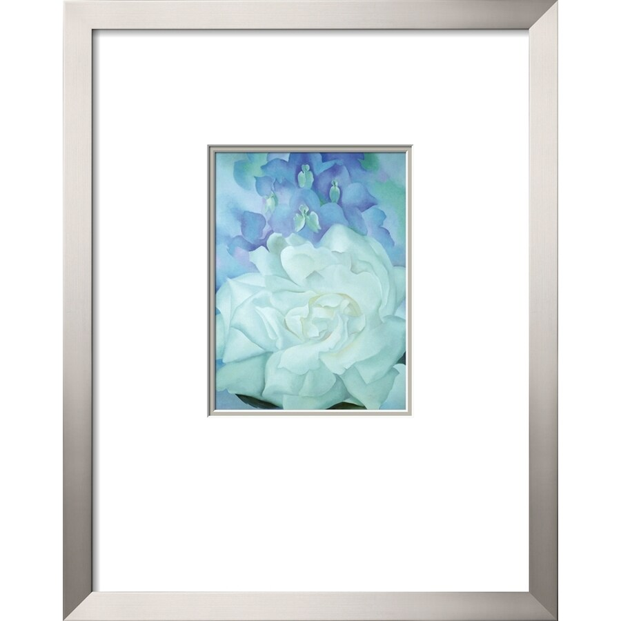 Shop artcom 21 in w x 27 in h framed floral and botanical for Kitchen cabinets lowes with wall art flower