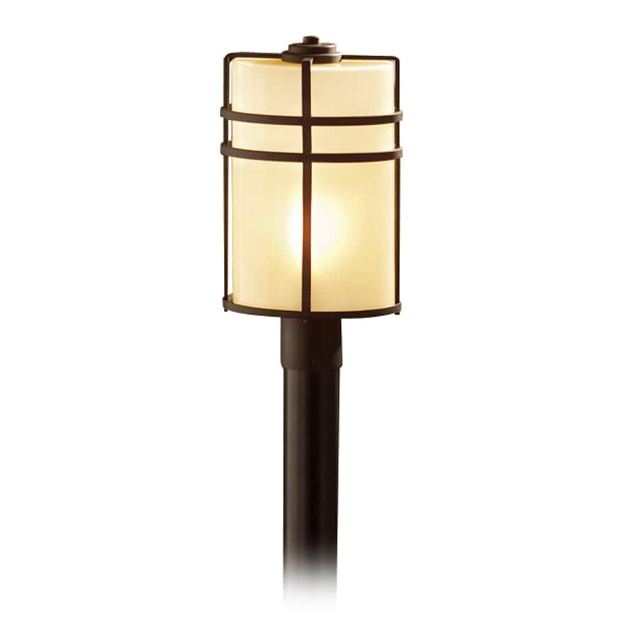 allen + roth Altabourne 17.19-in H Oil-Rubbed Bronze Post Light