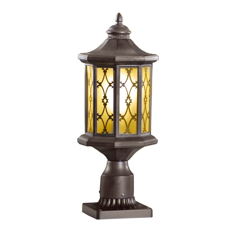 allen + roth Hardaway 17-3/4-in H Marbella Wrought Iron Post Light