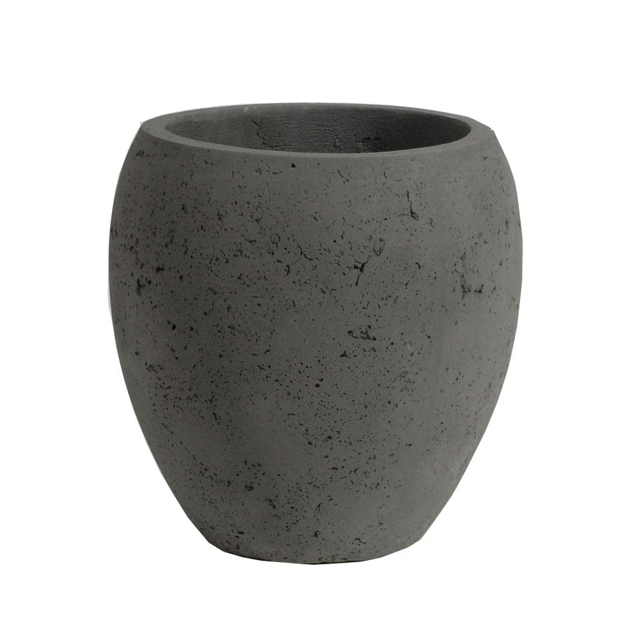 Style Selections 18-1/8-in H x 18-1/8-in W x 18-1/8-in D Grey Concrete Indoor/Outdoor Pot