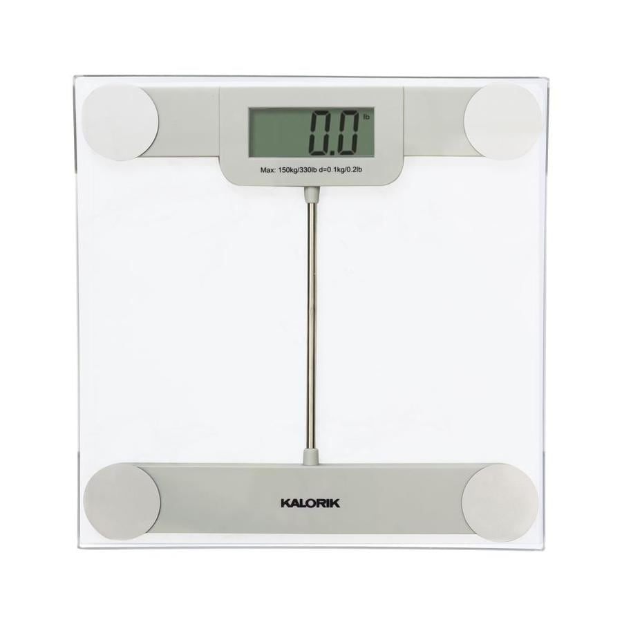 KALORIK Clear/Silver Digital Bathroom Scale