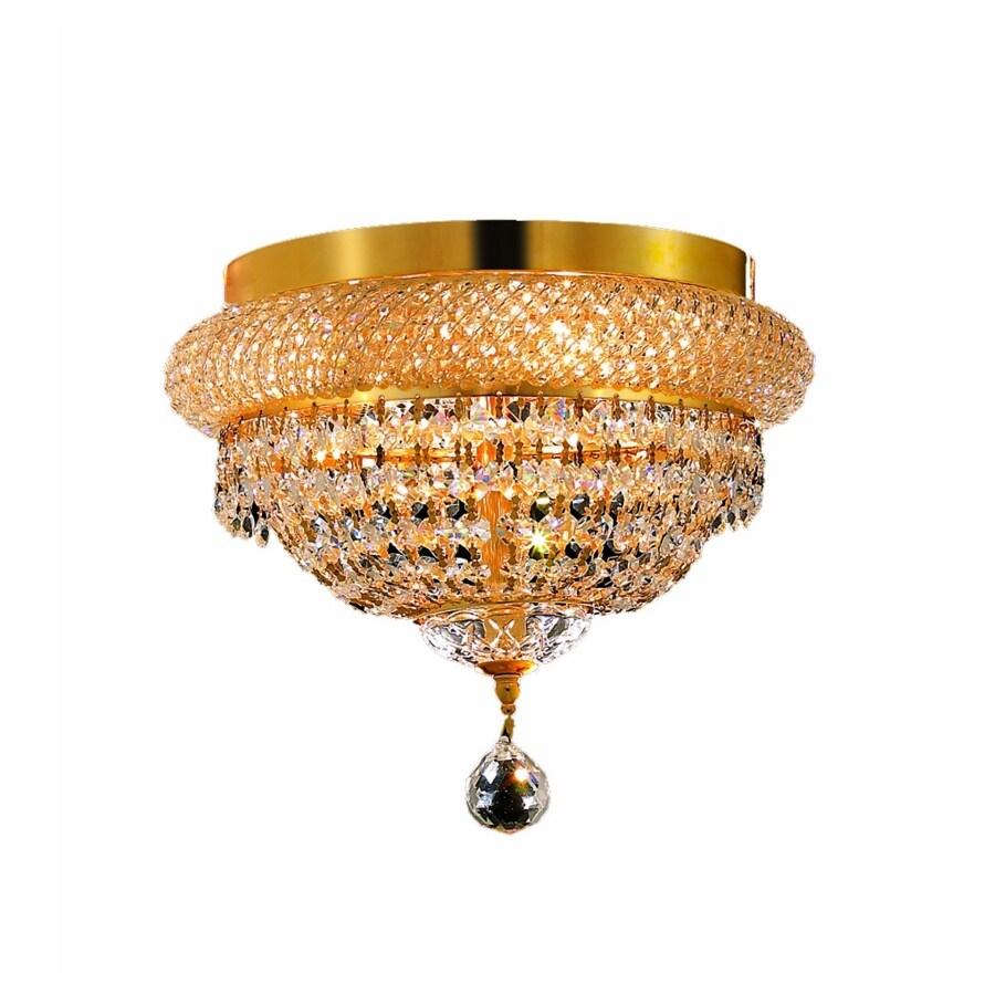Luminous Lighting Primo 12-in W Gold Ceiling Flush Mount Light
