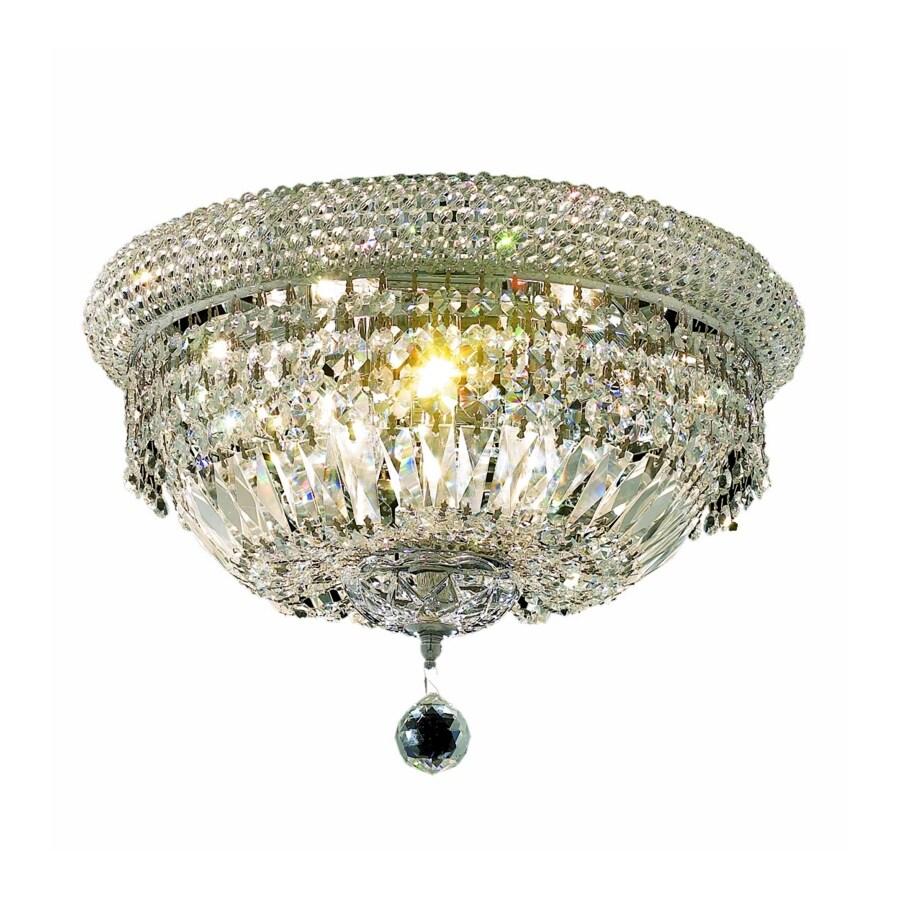 Luminous Lighting Primo 16-in W Chrome Ceiling Flush Mount Light