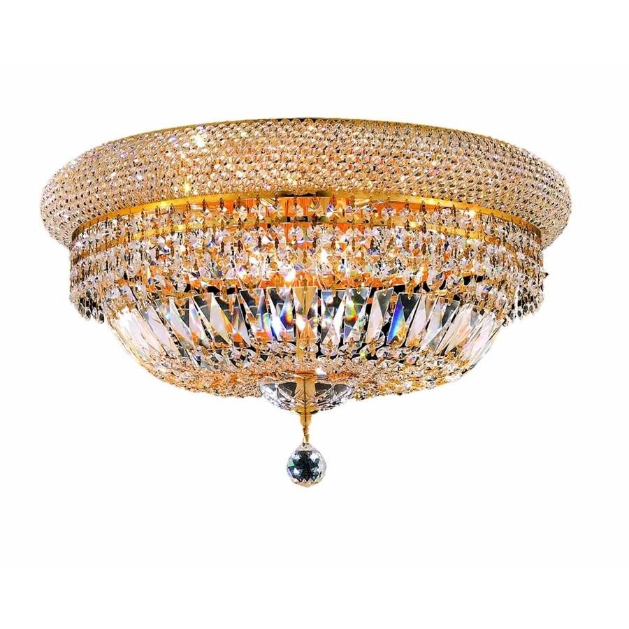 Luminous Lighting Primo 20-in W Gold Ceiling Flush Mount Light