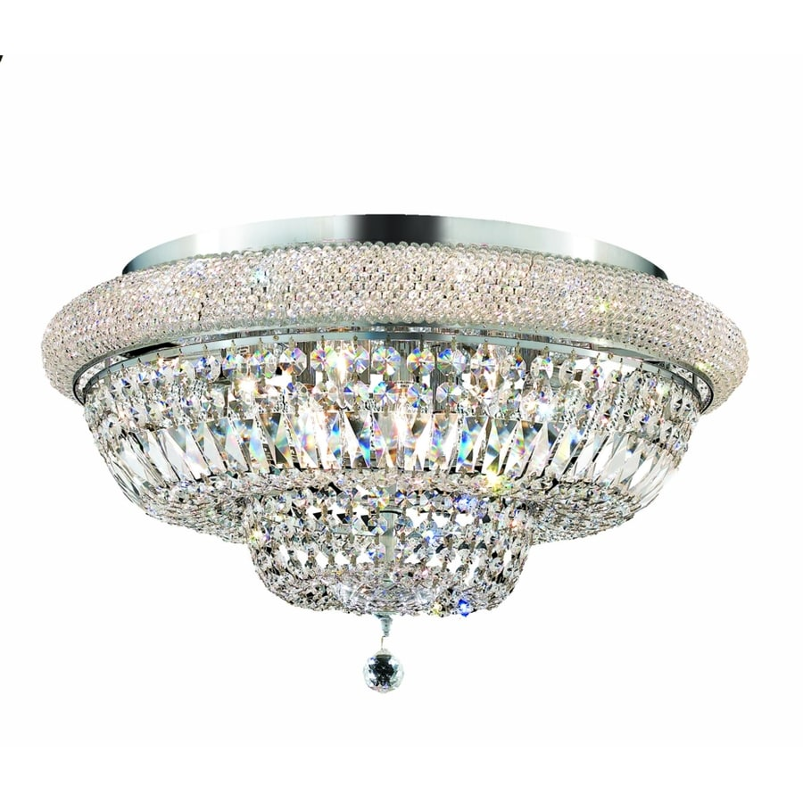 Luminous Lighting Primo 28-in W Chrome Ceiling Flush Mount Light