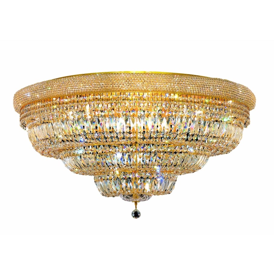 Luminous Lighting Primo 42-in W Gold Ceiling Flush Mount Light