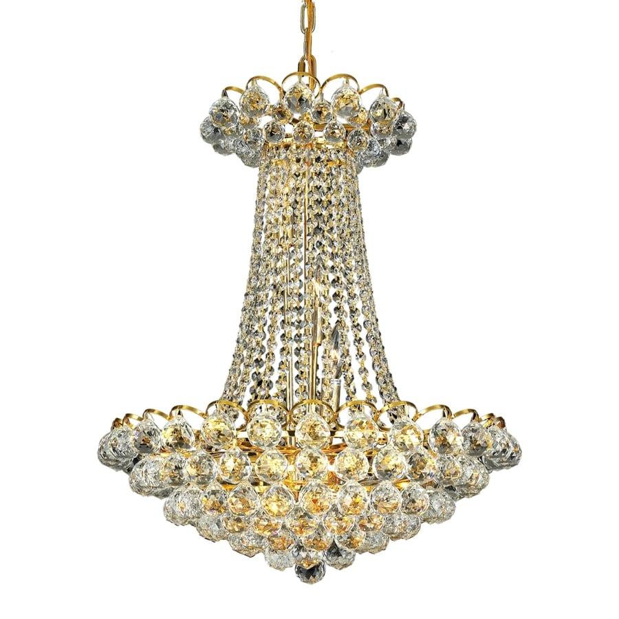 Luminous Lighting Godiva 21-in 13-Light Gold Empire Chandelier