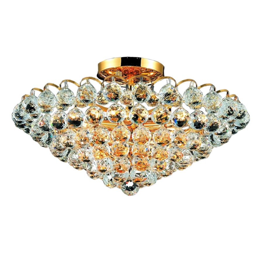 Luminous Lighting Godiva 21-in W Gold Ceiling Flush Mount Light