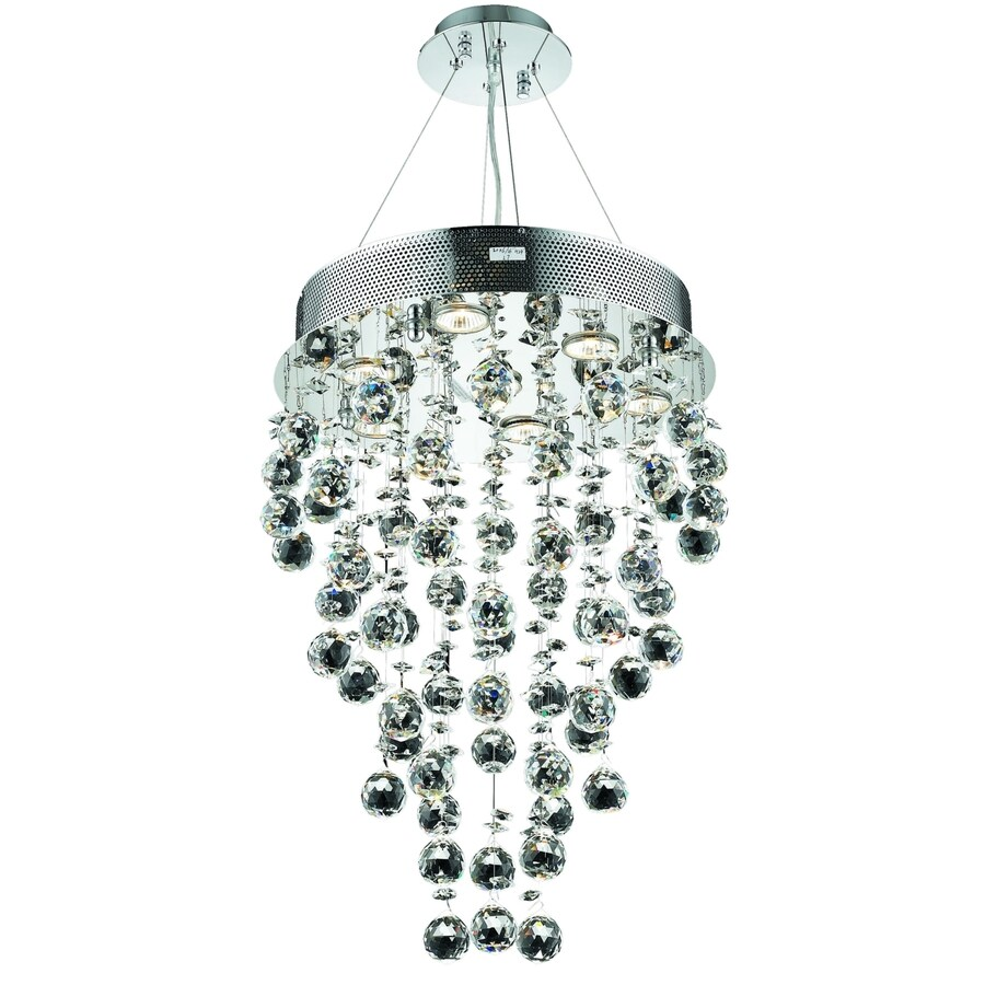 Luminous Lighting Galaxy 16-in 7-Light Chrome Waterfall Chandelier