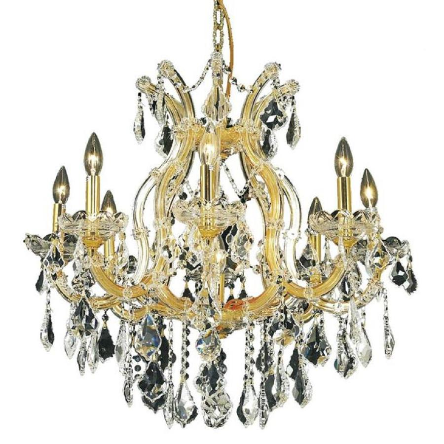 Luminous Lighting Maria Theresa 26-in 9-Light Gold Candle Chandelier