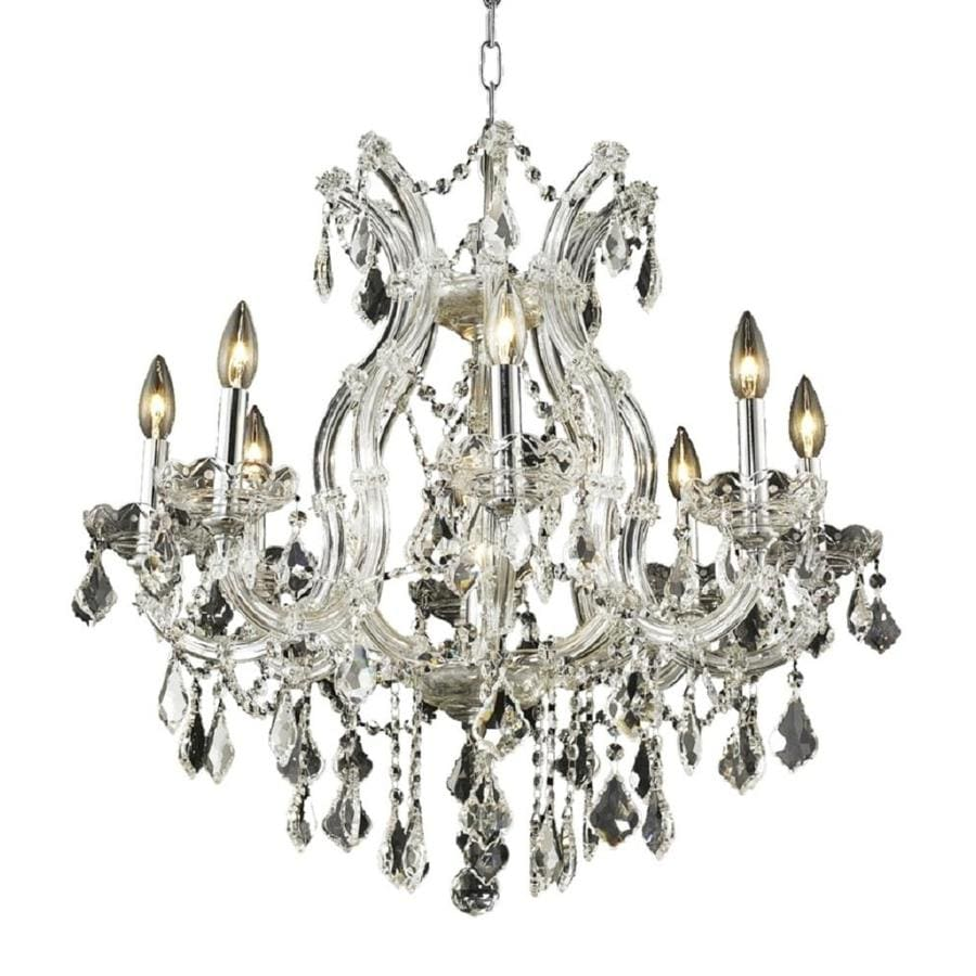 Luminous Lighting Maria Theresa 26-in 9-Light Chrome Candle Chandelier
