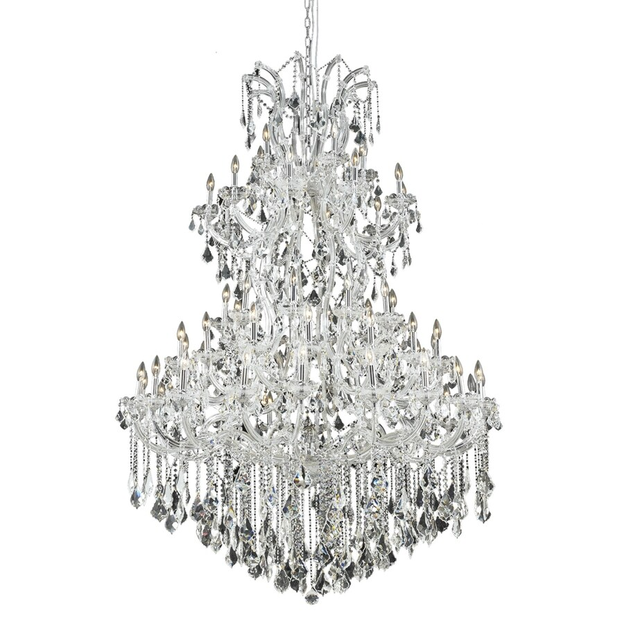 Luminous Lighting Maria Theresa 54-in 61-Light Chrome Candle Chandelier
