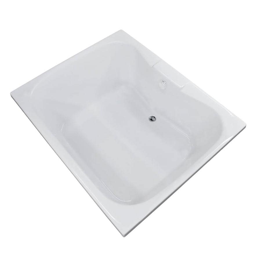 Endurance Harrier Acrylic Hourglass In Rectangle Drop-in Bathtub with Center Drain (Common: 48-in x 59-in; Actual: 23-in x 47.25-in x 59-in)
