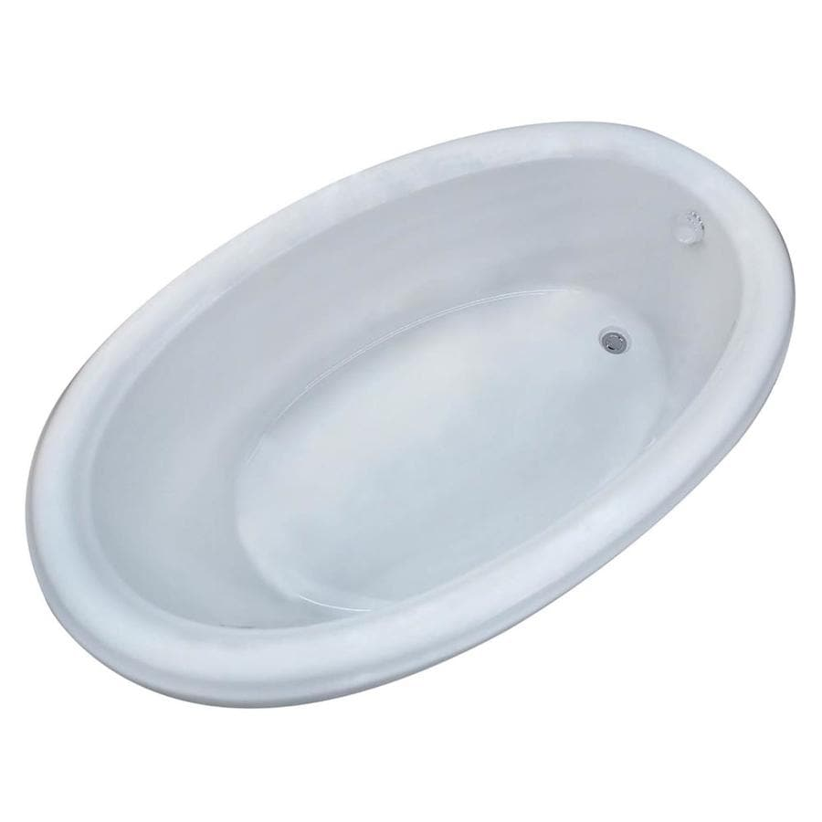 Endurance Hazel Acrylic Oval Drop-in Bathtub with Reversible Drain (Common: 42-in x 70-in; Actual: 23-in x 42-in x 70-in)