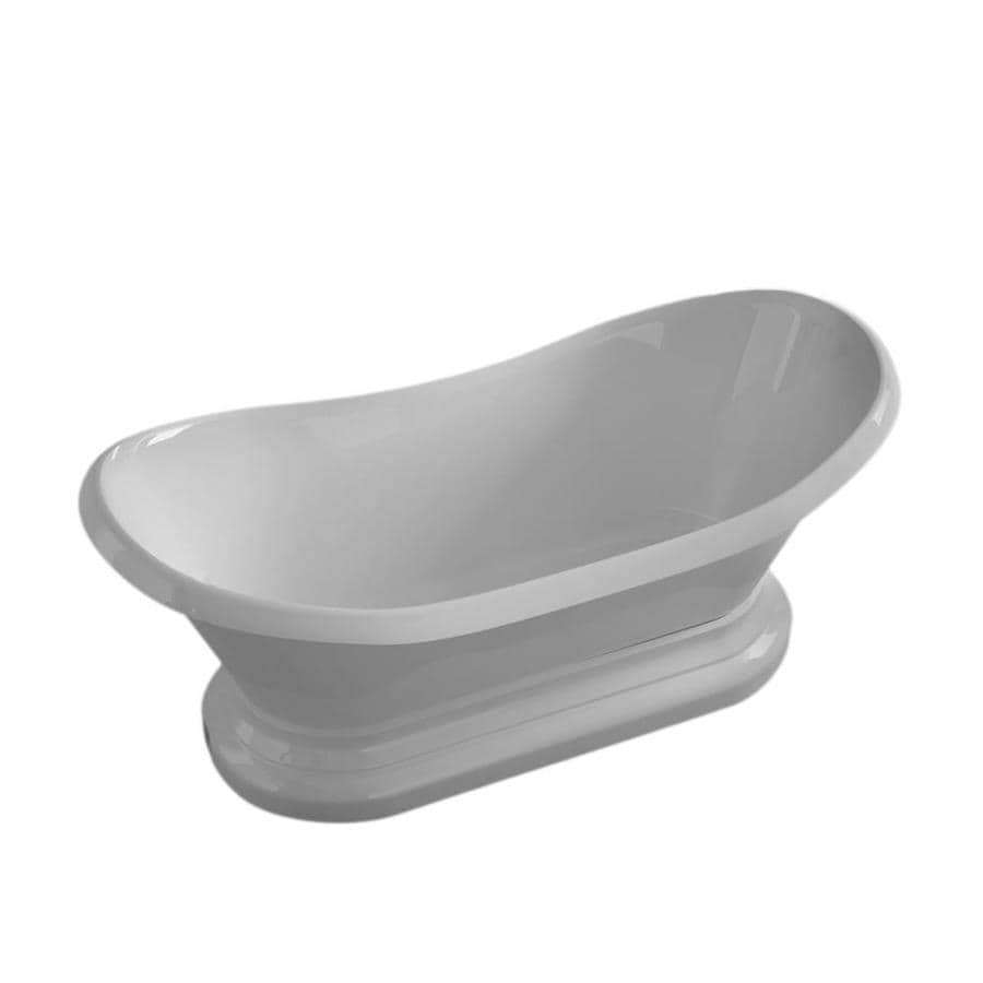 Endurance Endurance Acrylic Oval Pedestal Bathtub with Center Drain (Common: 33-in x 71-in; Actual: 26.5-in x 32.75-in x 70.75-in)
