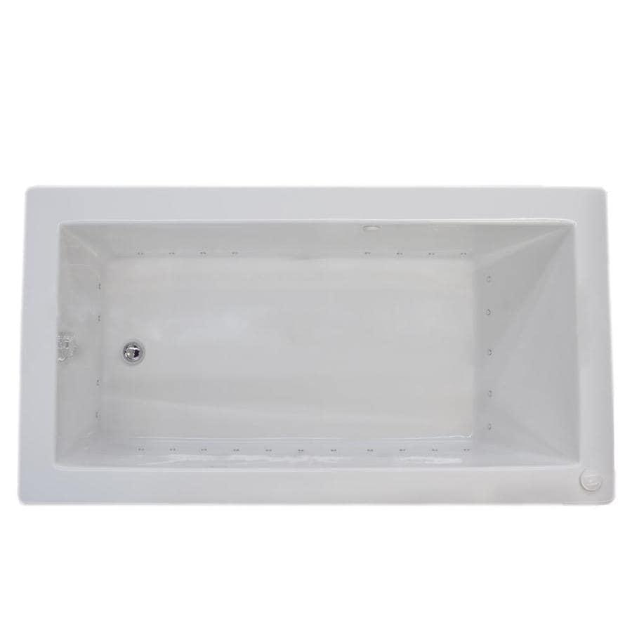 Endurance Peregrine 36-in L x 72-in W x 23-in H White Acrylic Rectangular Drop-in Air Bath