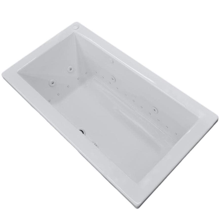 Endurance Peregrine 72-in L x 42-in W x 23-in H White Acrylic Rectangular Drop-in Whirlpool Tub and Air Bath